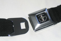 Black Mustang Emblem Seatbelt Belt