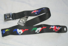 Mustang Pony Flags Seatbelt Belt