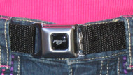Kids Mustang Emblem Seatbelt Belt